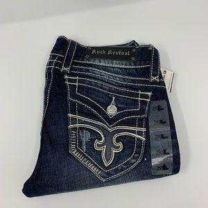 Rock revivals dark wash boot cut Jen 29x32 nwt